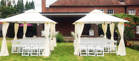Garden wedding ceremonies